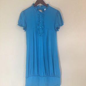 Rue 21 turquoise high neck dress large cute